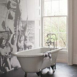 Classical freestanding bath with tap detail ascot